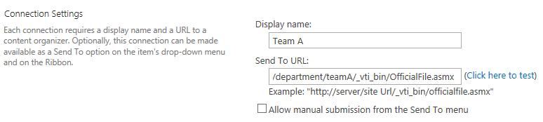 ConfigureSendToConnection