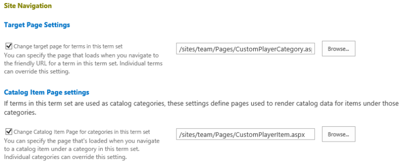 SiteNavigationCustomPageSettings