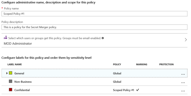 Scoped Policy in Azure